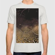 Austin Mens Fitted Tee Silver SMALL