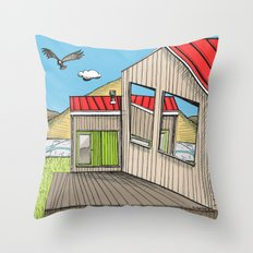 Skewed by Debbie Porter - Designs of an Eclectique Heart Throw Pillow