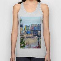 Tenby Harbour.Colour.Ref… Unisex Tank Top