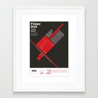 Floppy Disk Framed Art Print