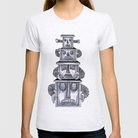 Robo Totem 1 Womens Fitted Tee Ash Grey SMALL
