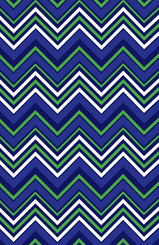 Preppy Chevron Art Print