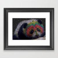 Rainbow Panda Framed Art Print