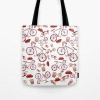 Bikes And Coffee Tote Bag