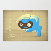Let's Steel The Moon Canvas Print