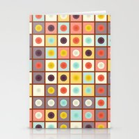 Spotted geometric pattern Stationery Cards