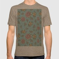 Mantón Azul Mens Fitted Tee Tri-Coffee SMALL