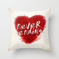 never ending love Throw Pillow