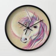 Unicorn Moon Wall Clock