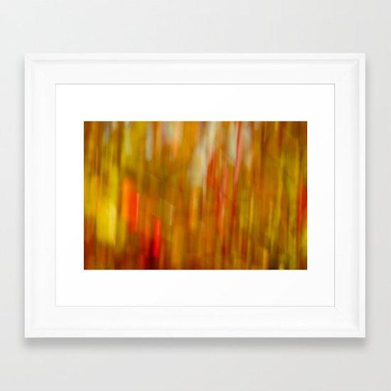 autumn blur ochre Framed Art Print