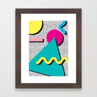 Abstract 1980's Framed Art Print