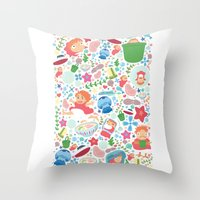 Ponyo Pattern - Studio G… Throw Pillow
