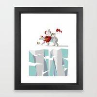 Private Penguin's Polar Percussion Framed Art Print