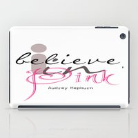 I believe in Pink Audrey Hepburn iPad Case