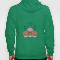 Cute Monster With Orange And Red Frosted Cupcakes Hoody