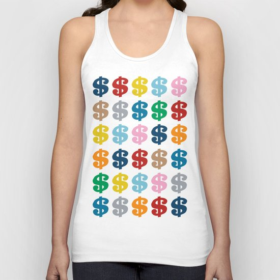 Colourful Money 48 Unisex Tank Top