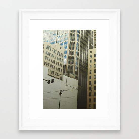 Minneapolis Collage Framed Art Print