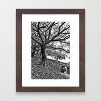 Banyan Tree Monster Framed Art Print