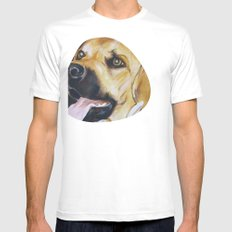 Mans Best Friend - Dog in Suit Mens Fitted Tee SMALL White