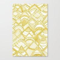 Golden Doodle mountains Canvas Print
