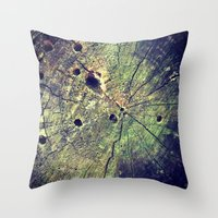 Nature Rings Throw Pillow