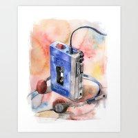 Vintage gadget series: Sony Walkman TPS-L2 Art Print
