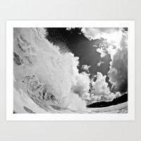 Waves / Sun Rays Art Print