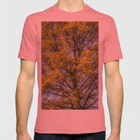 Summer Tree Art Texture Mens Fitted Tee Pomegranate SMALL