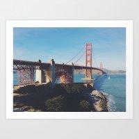 Golden Gate Bridge.  Art Print