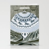 Sweater With Horses Stationery Cards
