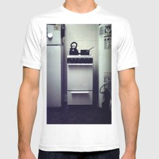 Stove. White SMALL Mens Fitted Tee