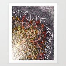 R/Y Burst Art Print