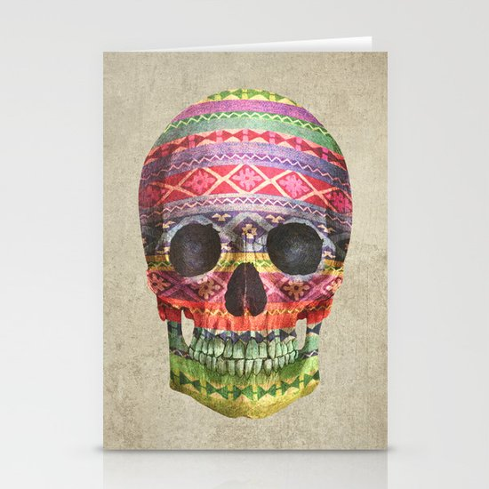 Navajo Skull  Stationery Card