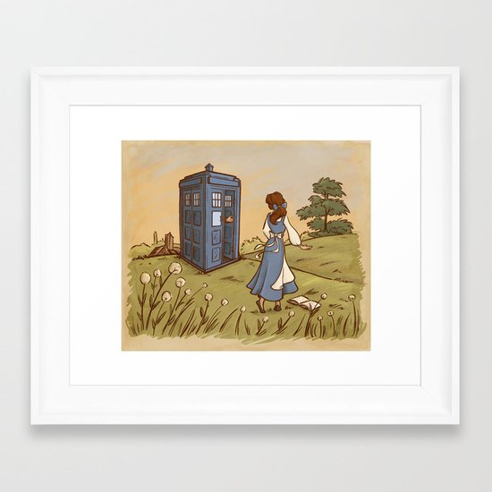 Adventure in the Great Wide Somewhere Framed Art Print