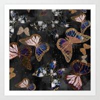 Cosmic Butterflies Art Print