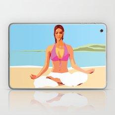 Yoga on the Beach Laptop & iPad Skin