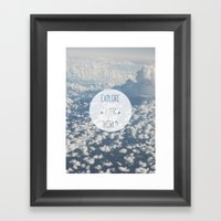 Explore your world Framed Art Print