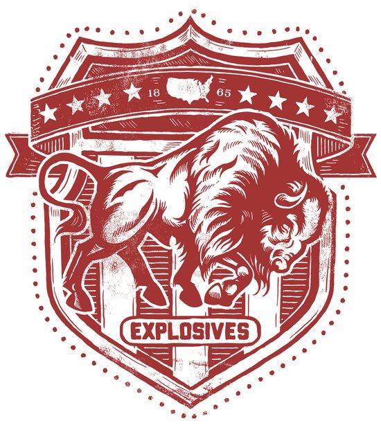 Buffalo Explosives Canvas Print