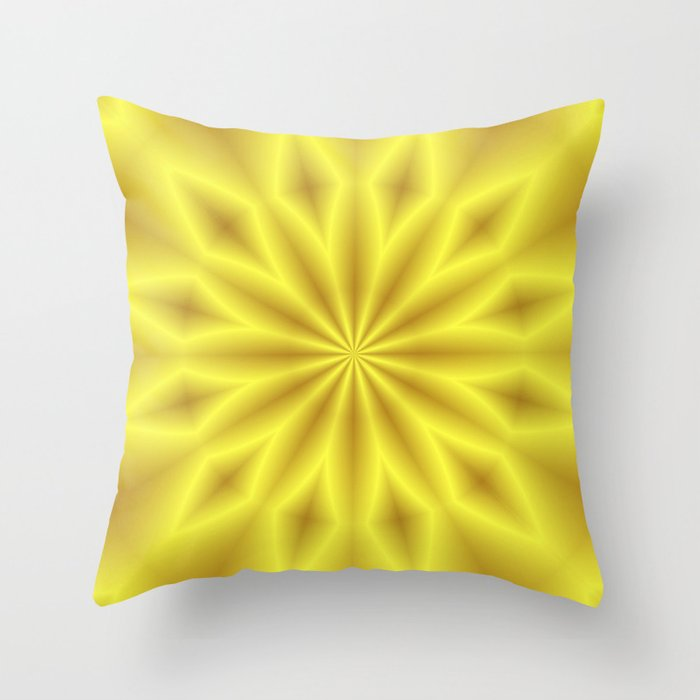 Bright Yellow Decorative Pillows : Bright Yellow Star Throw Pillow by Lena Photo Art Society6
