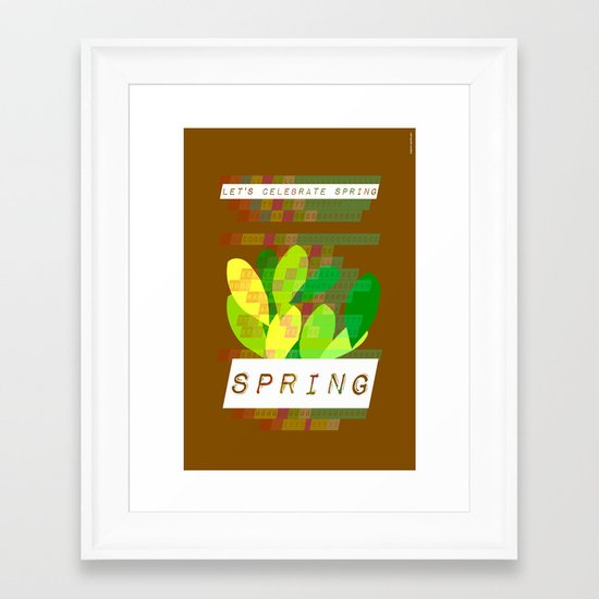Celebrate Spring Framed Art Print