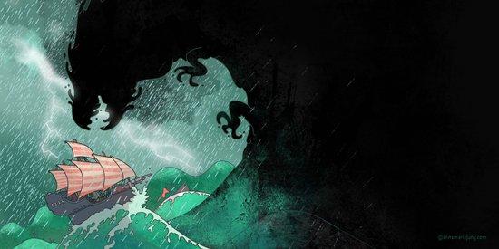 01: The Monster attacks Art Print