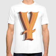 Letter Y White Mens Fitted Tee SMALL