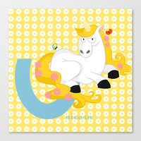 u for unicorn Canvas Print
