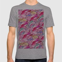 Crystal Pattern Mens Fitted Tee Athletic Grey SMALL