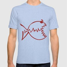 red fish Mens Fitted Tee Athletic Blue SMALL