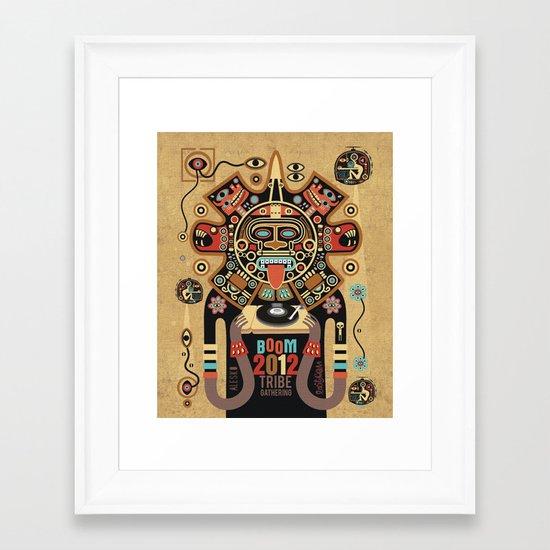 Mayas Spirit - Boom 2012 Framed Art Print