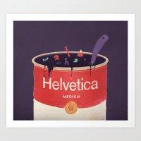 Helveti-soup Art Print