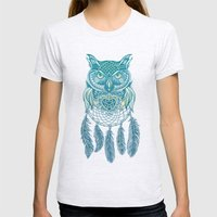 Midnight Dream Catcher Womens Fitted Tee Ash Grey SMALL