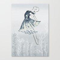 Nightswimming Canvas Print