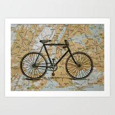 Bike Ride in New York City Art Print